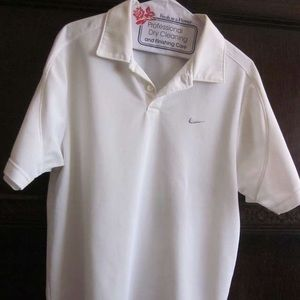 Nike White Medium Collar Shirt